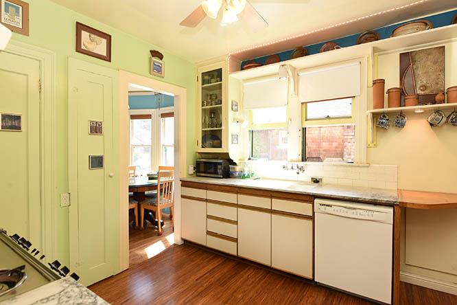 Kitchen facing West